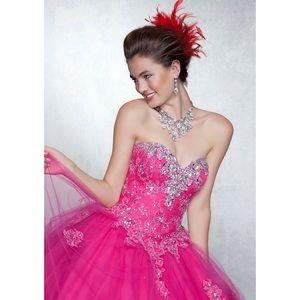 Sale! Mori Lee Vizcaya Quinceanera 88042 hot pink